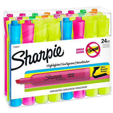 Sharpie Accent Yellow Highlighters - 24 Pack