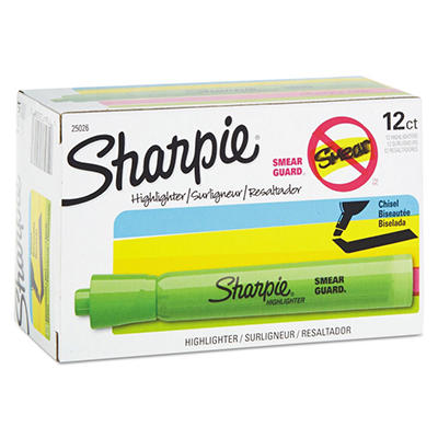Sharpie Accent Tank Style Highliter, Select Color (Chisel Tip, 12 ct.)