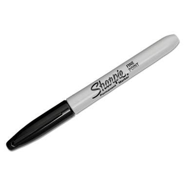 Sharpie Permanent Marker - Fine Point - Black - 12 ct.