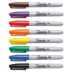 Sharpie Permanent Marker - Fine - Assorted Colors - Various Counts