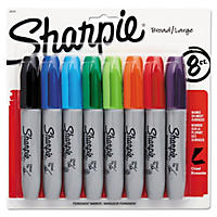 Sharpie 5.3mm Permanent Markers, Assorted Colors (Chisel Tip, 8 ct.)