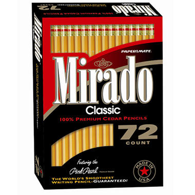 Papermate Mirado Woodcase Pencils - 72 Pack