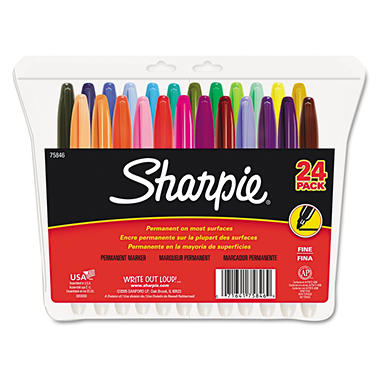 Sharpie - Permanent Markers, Fine Point, Assorted - 24 per Pack