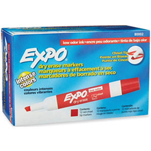 Expo - Low Odor Dry Erase Markers, Select Color (Chisel Tip, 12 ct.)