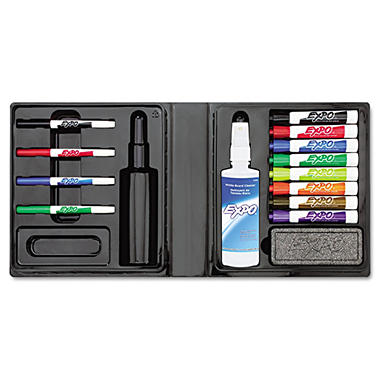 Expo - Dry Erase Marker/Eraser/Cleaner, Chisel/Fine, Assorted - 12 per Pack