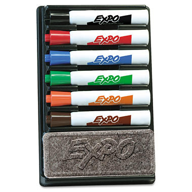 Expo - Dry Erase Marker Organizer, Chisel Tip, Assorted - 6 per Pack