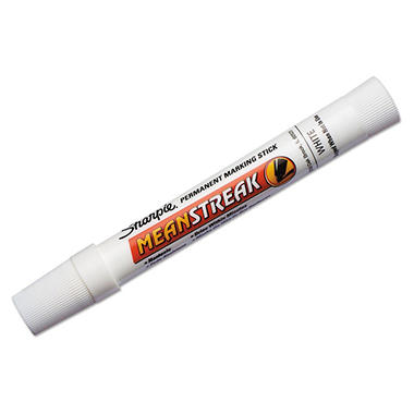 Sharpie - Mean Streak Marking Stick, Broad Tip - White