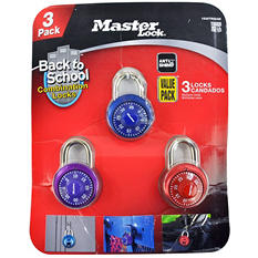 Master Lock Color Combination Locks 3-Pack