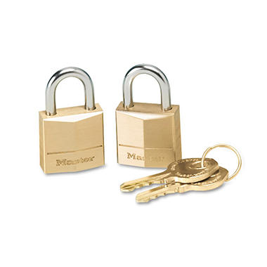 Master Lock� Twin Brass 3-Pin Tumbler Lock