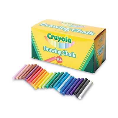 Crayola Assorted Colored Drawing Chalk - 6 pk./24 ct. each