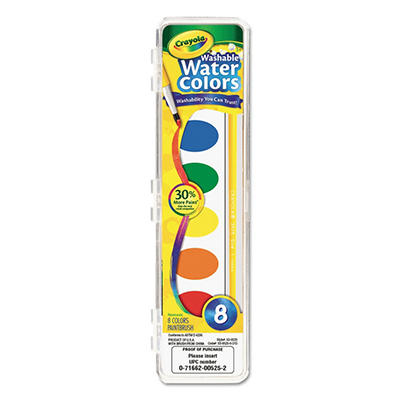 Crayola Washable Watercolor Paint - 8 Assorted Colors