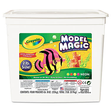 Crayola Model Magic Modeling Compound, 8 oz, Neon, 4 Packs