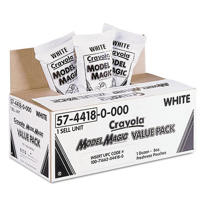 Crayola Model Magic Modeling Compound, 8 oz., White -  96 oz.