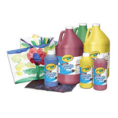 Crayola Washable Tempera Paint, 1 Pint, Assorted Brilliant Colors, Set of 12