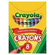 Crayola Classic Color Pack Crayons, Tuck Box, 8 Colors per Box