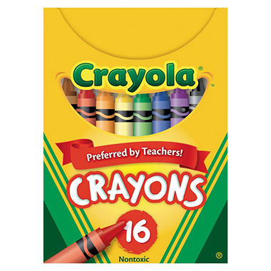 Crayola Classic Color Pack Crayons, Tuck Box, 16 Color per /Box