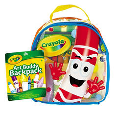 Crayola Art Buddy Backpack, 38 Pieces