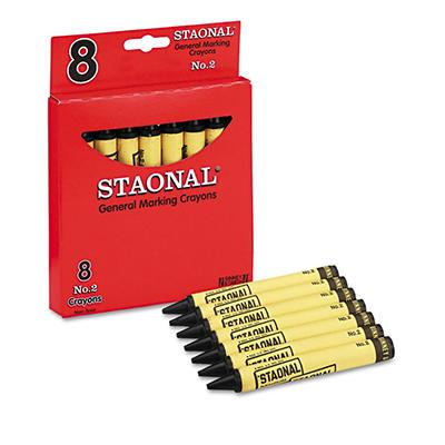 Crayola Staonal Marking Crayons, Black (Jumbo, 8 ct.)