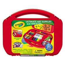 Crayola Ultimate Art Supplies Kit with Built-in Easel, 85 Pieces