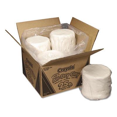Crayola - Air-Dry Clay, White -  25 lbs