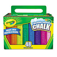 Crayola - Washable Sidewalk Chalk -  48 Assorted Bright Colors