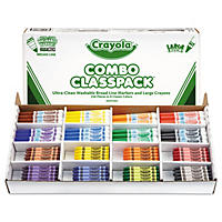 Crayola Classpack Crayons and Markers, 128 Each Crayons/Markers, 8 Colors, 256 Total Count