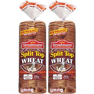Stroehmann Split Top Wheat Bread - 20 oz. loaf - 2 pk.