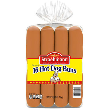 "Stroehmann 6"" Hot Dog Bun - 22 oz. Bag - 16 ct."