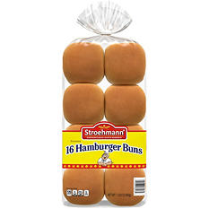 """Stroehmann 3.5"""" Hamburger Buns - 22 oz. Bag - 16 ct."""