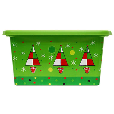 Rubbermaid 14 Gallon Holiday Tote - Trees