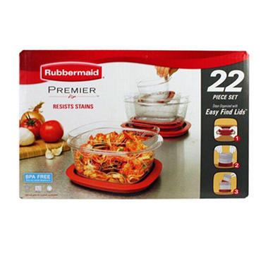 Rubbermaid Premier Food Storage Container - 22 pcs.