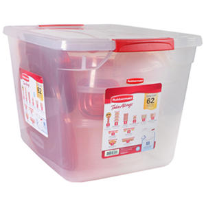 Rubbermaid TakeAlongs 62-piece Food Storage Set