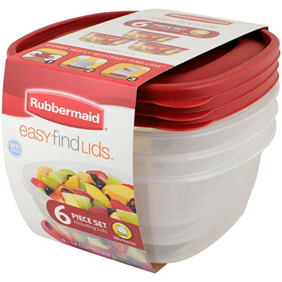 Rubbermaid Easy Find Lids 14-Cup 6-Piece Set