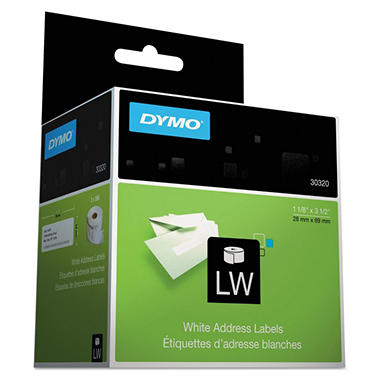 Dymo LabelWriter - 30320 Address Labels, White - 520 Labels
