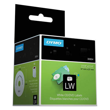 Dymo LabelWriter - 30854 CD/DVD Labels, White - 160 Labels