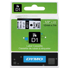 DYMO - D1 Label Tape, Black on White - Various Sizes