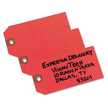 Avery - Shipping Tags, Paper, 4 3/4 x 2 3/8, Red, 1,000 Pack