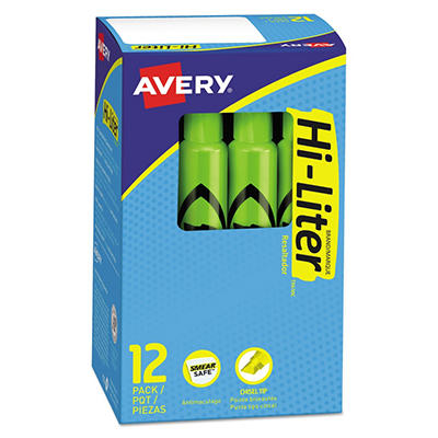 Avery Desk Style HI-LITER, Select Color (Chisel Tip, 12 ct.)