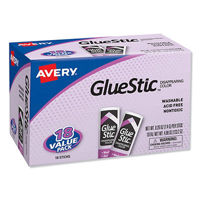 Avery Purple Application Permanent Glue Stics - 18 ct.