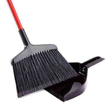 Commercial Extra Wide Angle Broom with Dustpan