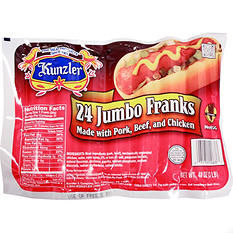 Kunzler Meat Franks - 3 lbs.