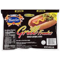 Kunzler Grill Franks - 3 lbs.