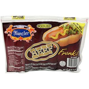 Kunzler Beef Grill Franks (3 lb.)