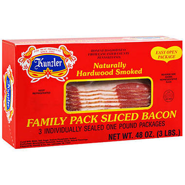 Kunzler® Sliced Bacon 1 lb. - 3 ct.