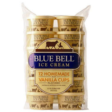 Blue Bell Gold Rim Ice Cream (Half Gallon)