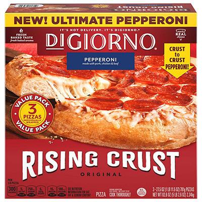 DiGiorno Rising Crust Pepperoni Pizza (29.6 oz., 3 ct.)