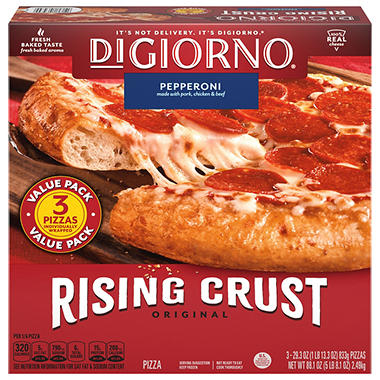 DiGiorno� Rising Crust Pepperoni Pizza - 29.6 oz. - 3 ct.