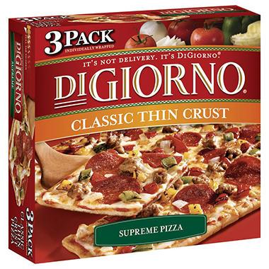 DiGiorno® Classic Thin Crust Supreme Pizza - 3 pk.