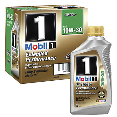 Mobil 1 extended performance 10w 30 6 1 qt btls sam 39 s for What s the difference between 5w30 and 10w30 motor oil