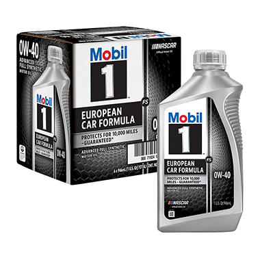 Mobil 1 10W-40 Motor Oil (6-pack / 1-quart bottles)